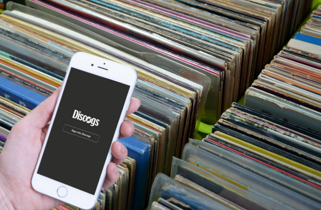 Discogs App - record store copy