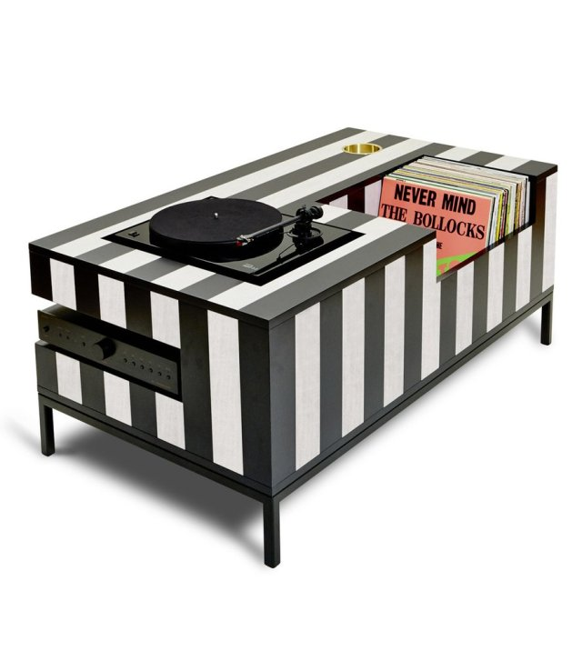 Kick Back Cocktail Table, Vinyl, Konsole