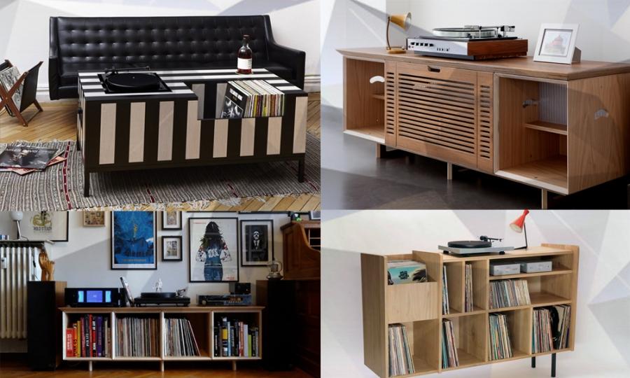 Vinyl. Konsolen, Einrichtung, Interior